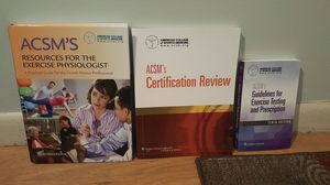 ACSM Exercise Physiology Certification Books for Sale in Baltimore, MD
