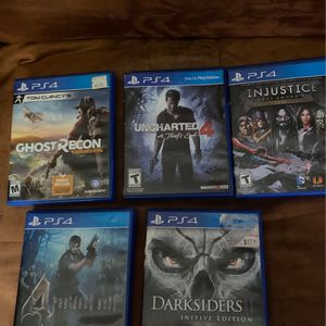 Ps 4 games 10 dollars Each Elma Only for Sale in Elma, WA