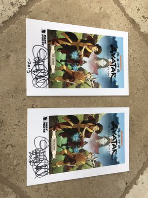 Lot of two SIGNED AVATAR PRINTS! Comic con! for Sale in San Diego, CA