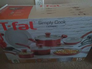 T-fal simply cook, pot, sauce pan, pan, ladles for Sale in Seattle, WA