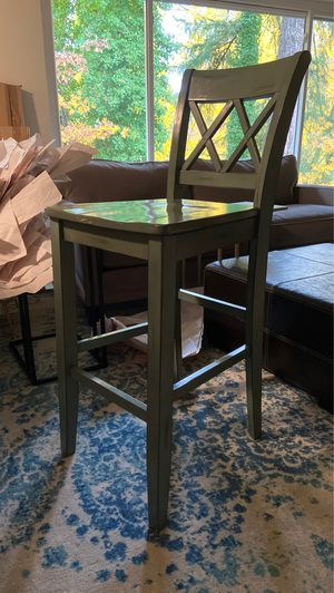 Greenish blue wooden bar stools ( 6 )of them for Sale in Newcastle, WA