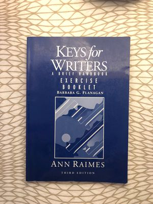 Keys for Writers a Brief Handbook Exercise Booklet by Barbara G Flanagan (Third Edition) for Sale in Los Angeles, CA