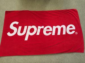Supreme Box Logo Beach Towel for Sale in Bonita, CA