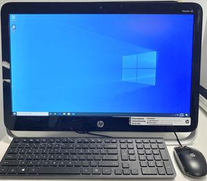 """HP Pavilion 23-g010 23"""" All-In-One DVD AMD E2-3800 Quad Core 1.3 GHz 4GB Ram 500GB HDD Win10Pro MS Office 2019 for Sale in Mercer Island, WA"""
