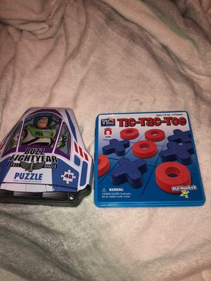 GAMES (Tic Tac Toe ,buzz light year puzzle ) for Sale in Dallas, TX