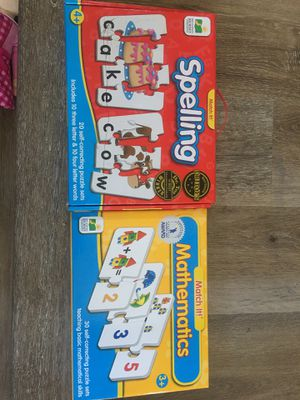 Match it learning games spelling and mathematics for Sale in Carlsbad, CA