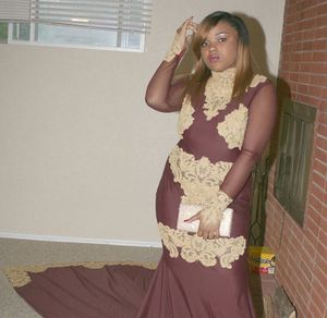 Burgundy and Gold Prom Dress for Sale in St. Louis, MO