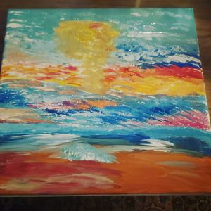 Beach painting for Sale in Saluda, NC