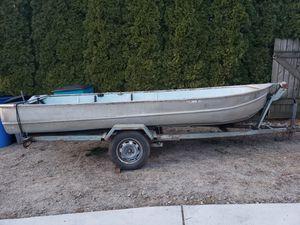 13' boat with trailer make offer for Sale in Vancouver, WA