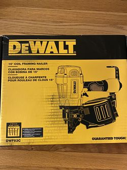 Dewalt 15° Coil Framing Nailer for Sale in Severna Park,  MD
