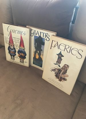 Set of 3 Gnomes - Giants - Faeries Illustrated Books for Sale in Scottsdale, AZ