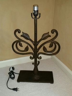 Pottery Barn wrought iron lamp / no shade for Sale in Scottsdale, AZ