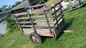 Wood wheel farm trailer for Sale in Westerville, OH