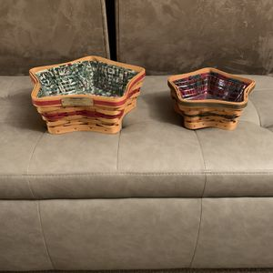 LONGABERGER STAR BASKETS for Sale in Oswego, IL