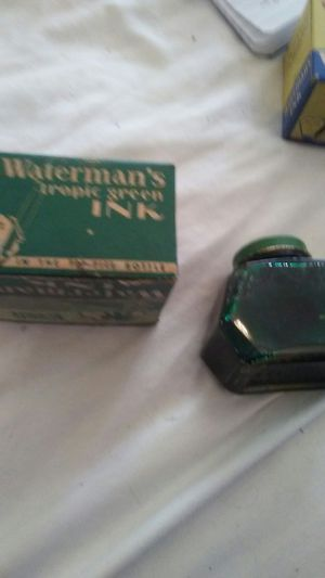 1- VIntage Waterman's Ink Tropical Green! Fountain pen ink! for Sale in Pen Argyl, PA