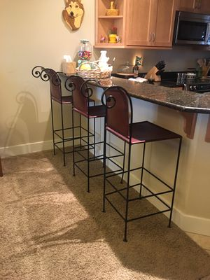 Barstools set of 3 for Sale in Wenatchee, WA