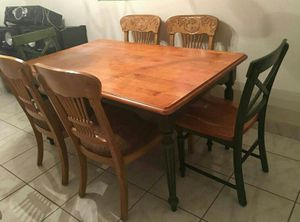 Solid wood dining table/2 chairs only for Sale in Sebring, FL