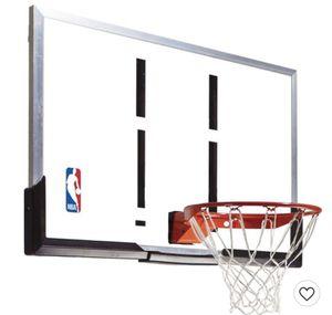 """Spalding NBA 54"""" Acrylic Portable Basketball Hoop for Sale in Denver, CO"""