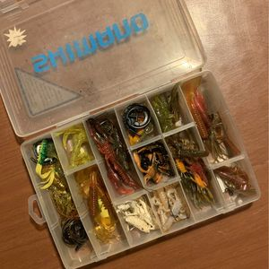 Box Of New Soft Fishing Lures for Sale in Pittsburgh, PA