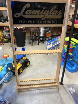 Lamiglas fishing rod rack for Sale in Point Pleasant, NJ