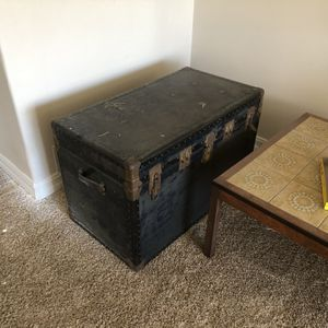 Antique Trunk Coffee Table Or Storage for Sale in Newport Beach, CA