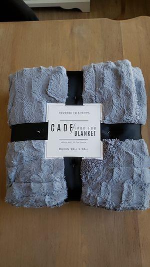 "Blanket cade faux fur cloud grey Queen 90""×90 new for Sale in Las Vegas, NV"