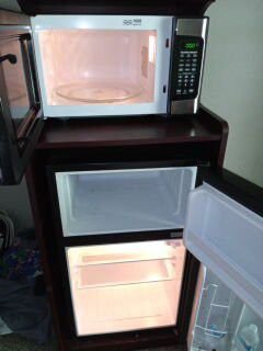 Mini fridge and microwave with stand for Sale in Norman, OK