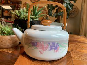 Vintage Enamelware Tea Pot for Sale in Issaquah, WA