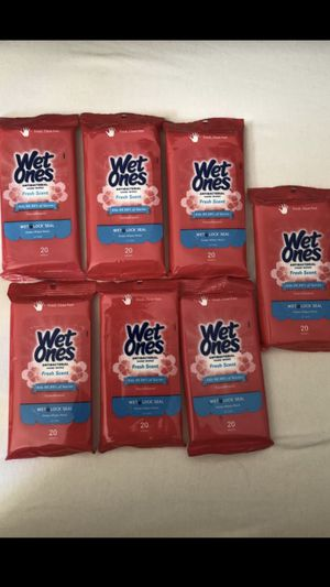 Wet Ones Antibacterial (7) Packs 140 Wipes-Fresh Scent! for Sale in Ottawa, IL