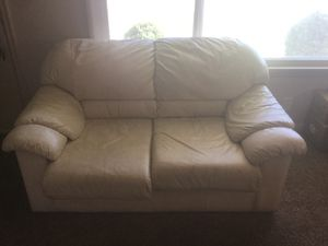 White leather couch for Sale in Bountiful, UT