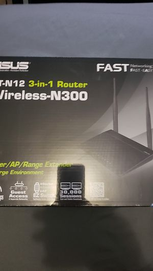 Asus 3in1 wireless router N300 for Sale in Pala, CA