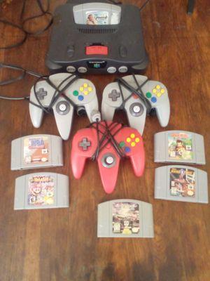 Nintendo 64 plus 6 games for Sale in Columbus, OH