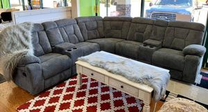 Grey Fabric Sectional Sofa for Sale in Norcross, GA
