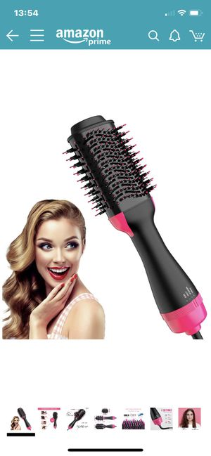Hair Dryer Brush, Chignon Hot Air Brush Blow Dryer Brush One Step Hair Dryer and Volumizer with Negative Ions Curler, Straightener, Styler for All Ha for Sale in North Potomac, MD