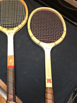 Lot of two MCM wood tennis rackets Bancroft Wimbledon Raleigh Newcomb for Sale in Bellevue,  WA