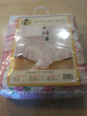 Bed Blankets Luxury 3 PCS SET (KING SET) # for Sale in Santa Ana, CA