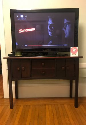 Dark wood Console/TV Stand for Sale in San Francisco, CA