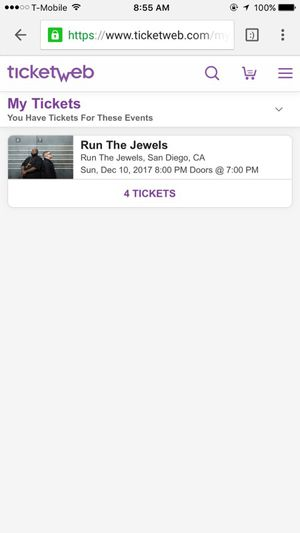 Run The Jewels 4 tickets $50 each for Sale in San Diego, CA