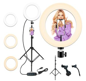 10'' Selfie Ring Light with 28.1'' to 83.8'' Extendable Tripod Stand,Peteme Led Ring Light with Phone Holder for Live Streaming/Makeup for Sale in Louisville, KY