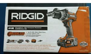 RIDGID 18-Volt Li-Ion Cordless Brushless 1/2 in. Compact Hammer Drill Kit (O) for Sale in St. Petersburg, FL