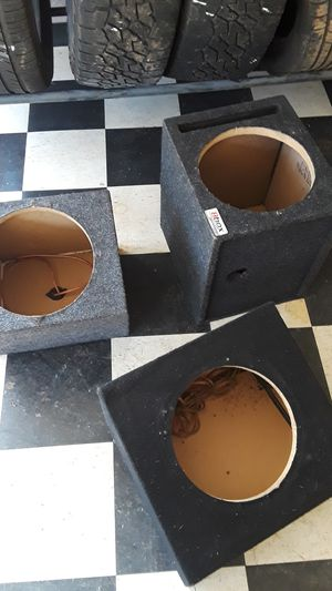 """3 one 12"""" subwoofer enclosures MDF wood fully carpeted. $20 a piece for Sale in Manakin-Sabot, VA"""