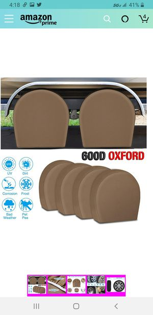 Tire Covers for RV Wheel Fonzier Set of 4 Motorhome Wheel Covers Waterproof Oxford Cotton for Sale in Las Vegas, NV