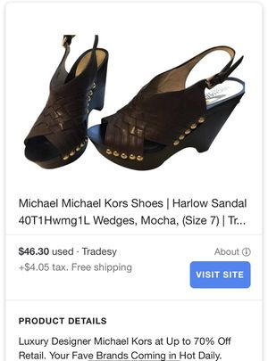 Michael Kors studded peep toe wedge size 6 for Sale in Elk Grove, CA