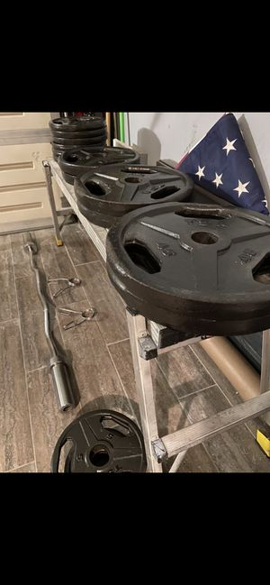 Olympic steel weights: Make your muscles Great again for Sale in Queens, NY