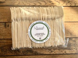 Ingrained ® Wooden Disposable Forks - 100 forks for Sale in Findlay, OH