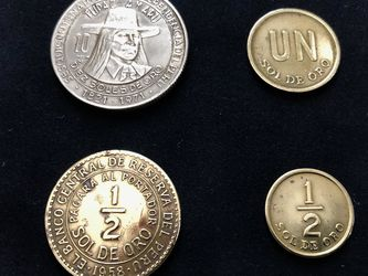 Lot of old Peruvian sol de oro coins for Sale in Hollywood,  FL