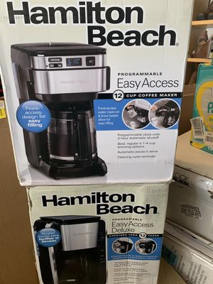 $15 each Hamilton beach programmable easy access 12 cup coffee maker model number #46310 & 46320 for Sale in Las Vegas, NV