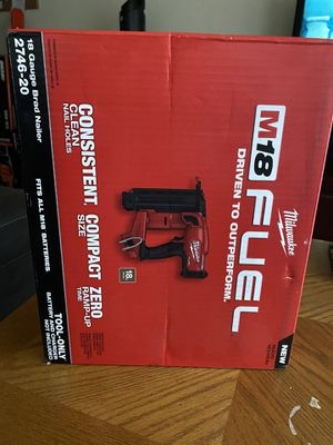 Milwaukee M18 FUEL Brushless Cordless (Gen2) 18-Gauge Brad Nailer (Tool-Only) New for Sale in San Diego, CA