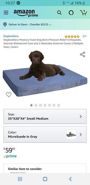 "Dog bed 20 x 35 x 4"" for Sale in Chandler, AZ"