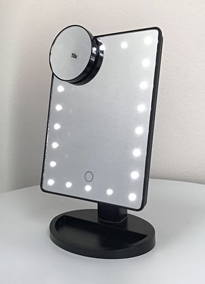 "New $15 each 11x6.5"" LED Vanity Makeup Mirorr Touch Screen Dimming w/ 10x Magnifying (Black or White) for Sale in South El Monte, CA"